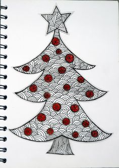 coco.nut christmas tree zentangle