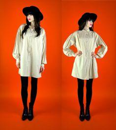 070112b4e7673 vintage dress 1980 s minimalist beige button by youngandukraine