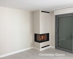 Chimenea Quento modelo Angular con Rocal G 30 Modern Fireplace Decor, Cabin Fireplace, Fireplace Cover, Japanese Home Decor, Japanese House, Home Living Room, Living Room Decor, Firewood Storage, Stairs Architecture