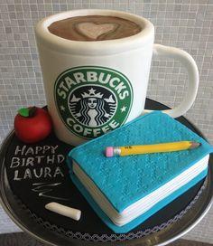 Starbucks ♥. Un very berry coffee cake con este diseño.....solo en Arteponke.