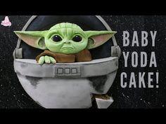 Baby Yoda The Mandalorian Cake Tutorial! Star Wars Cakes - Star Wars Cookie - Ideas of Star Wars Cookie - Star Wars Cookies, Star Wars Cake Toppers, Star Wars Cupcakes, Star Wars Baby, Bd Star Wars, Decoracion Star Wars, Yoda Cake, Star Wars Birthday Cake, Birthday Cakes