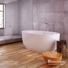 Un baño perfecto con nuestras maderas cerámicas.