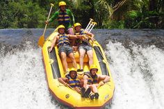 Bali Rafting is a very popular water activity in Bali that uses river flow from the mountain as its route. Bali rafting is designed to provide satisfaction to tourists by combining rafting activities with some natural beauty in river areas such as waterfalls,