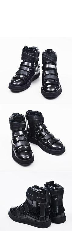 Avant-garde Multi Strap Velcro High-Shoes