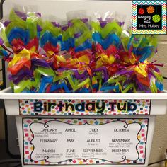 How to Make Birthday Cups I'm a grade teacher who loves coffee, books, traveling, and all things crafty and beautiful! Classroom Birthday Gifts, Student Birthday Gifts, School Birthday, Birthday Cup, First Grade Classroom, New Classroom, Preschool Classroom, Student Gifts, Classroom Themes