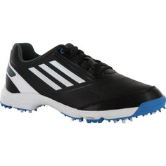 Get Adidas branded shoes in Junior Adizero Golf Shoes 2014 model that is available in Black/White/Blue colours Kids Golf Shoes, Adidas Brand, Shoes 2014, Shoe Brands, Adidas Sneakers, Black And White, Fitness, Model, Blue