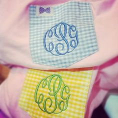 Monogrammed Frat Collection tshirts