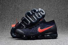 3511649a6cd8 Men Nike Air Vapormax Flyknit Black Blue Red Jordan Shoes For Sale