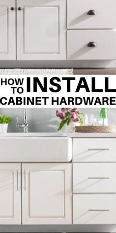 How to Install Kitchen Cabinet Hardware. Easy DIY project - replacing cabinet pulls and knobs. Installing Kitchen Cabinets, Modern Kitchen Cabinets, Painting Kitchen Cabinets, Kitchen Shelves, Kitchen Furniture, Kitchen Decor, Kitchen Racks, Kitchen Hardware Trends, Kitchen Liners