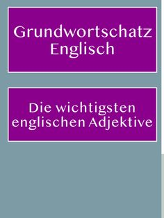 Basic vocabulary: The most important English adjectives, PDF for printing - Basic English vocabulary: The most important and most common English adjectives – with list for d - Crafty Hobbies, Easy Hobbies, Vocabulary Pdf, English Vocabulary, Learning English Online, German Language Learning, Improve English, Learn English, English Textbook