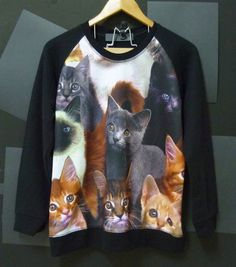CAT Galaxy Off the shoulder oversized slouchy sweater sweatshirt