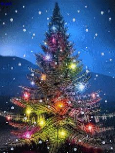 Stunning image - - from the clip art category animated Christmas Cards gifs & images! Christmas Tree Gif, Christmas Scenes, Christmas Animals, Merry Christmas And Happy New Year, Christmas Love, Christmas Pictures, Beautiful Christmas, Christmas Lights, Christmas Holidays