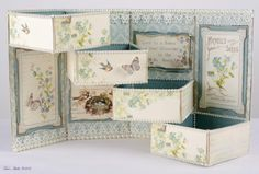 Magic Box - Pion Design Vintage Garden - by Tara Brown.  This paper is so pretty! I love the blue green combination.