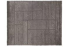 Velvet Maze Rug, Charcoal