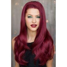 Sleek Burgundy hair