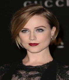 Latest Short Straight Bob Haircut 2015 with Side Swept Bangs