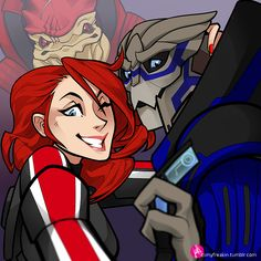 There's No Shepard Without Vakarian Excuse me while I babble incoherent nonsense at how cute this is-