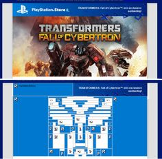 Transformers Email From Playstation