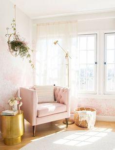 Blush pink & natural light