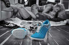 Sport High Heels STREET ROCKZ electric blue, Farbe:electric blue, Größe:35: Amazon.de: Schuhe & Handtaschen