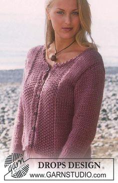 Free knitting patterns and crochet patterns by DROPS Design Knitting Machine Patterns, Sweater Knitting Patterns, Coat Patterns, Crochet Patterns, Knitted Coat Pattern, Cardigan Pattern, Cardigan Design, Drops Design, Summer Knitting