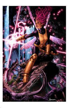 Pixie by Jay Anacleto X men. Marvel