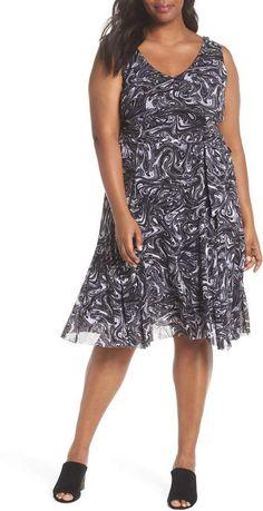 2aec75c77f MICHAEL Michael Kors Watermark Swirl Flare Tank Dress  ShopStyle   shopthelook  ad  sponsored