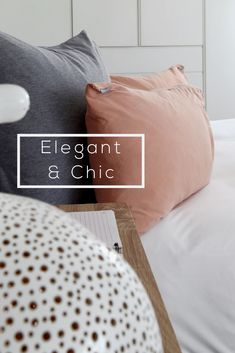 With so many colour options available, why not mix n' match. Pair blush pink standard pillows with a soft grey scatter cushion and your little girls room is Elegant & Chic! Pink And White Stripes, Grey And White, Little Girl Rooms, Little Girls, Elegant Chic, Scatter Cushions, Bedroom Inspiration, Home Decor Bedroom, Linen Bedding
