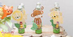 Festa Safari | Festa infantil | Party | Tubetes tema festa safari | Decoração by Mariah festas #festasafari #safari #bichos