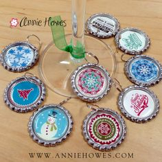 A new blog post is up with more easy Holiday DIY Craft ideas, such as these wine charms with a free PDF instant download!