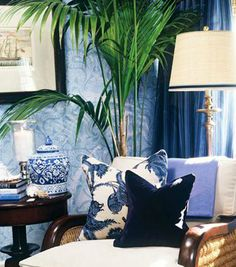 Blue and White:  Barclay Butera - Chinoiserie Chic
