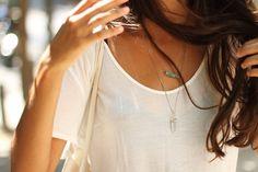 Aquamarine Layering Necklace