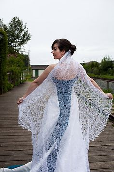 Ravelry: megknitficent's Wedding Veil!