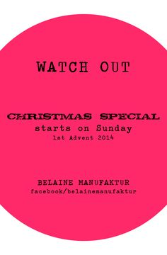 WATCH OUT our special offer on Sunday (1st Advent 2014) #flashsale #sale #specialoffer #christmas