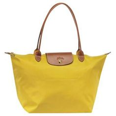 Large Le Pliage Longchamps Curry Bag