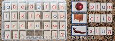 How to make your own Moveable Alphabet