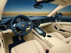 The interior of the Porsche Panamera.