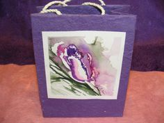 Watercolor Paper Gift Bag  Purple Frilly Tulip by TheGiftoftheGAB, $5.00