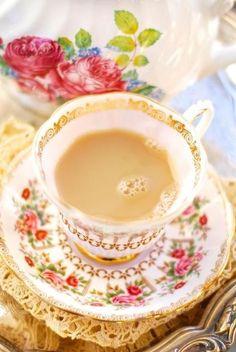 tea w cream-my favorite