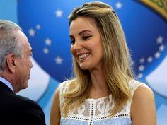 Michel Temer e a primeira-dama Marcela Temer durante cerimônia de lançamento do programa 'Criança Feliz' no Palácio do Planalto, em Brasília (Foto: Ueslei Marcelino/Reuters)