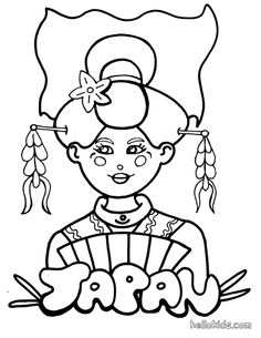 japan coloring page coloring pages #Japanese culture for #kids