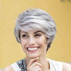 Stylish Short Side Bang Synthetic Stunning Mixed Color Fluffy Wave Wig For Women Modern Hairstyles, Straight Hairstyles, Braided Hairstyles, Medium Hair Styles, Curly Hair Styles, Short Side Bangs, Red Blonde Hair, Monofilament Wigs, Short Wigs