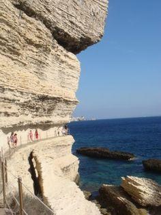no title - source : ph_escalier-roy-d-aragon-bonifacio. Bonifacio, Water, Outdoor, Water Well, Corse, Travel, Gripe Water, Outdoors, Outdoor Games