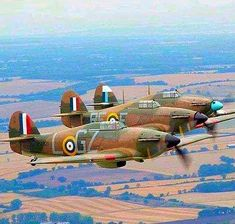 Hurricane formation. Hawker Hurricane
