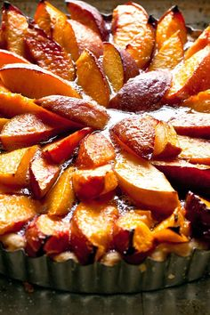 NYT Cooking: A beautiful dessert made from any great summer fruit — figs, nect… Funnel Cakes, Biscotti, Currant Jelly, Dessert Crepes, Fresh Strawberry Pie, Tart Recipes, Necterine Recipes, Cooking Recipes, Berry Tart