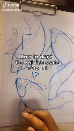 Koi Fish Drawing, Fish Drawings, Art Drawings Sketches Simple, Pencil Art Drawings, Drawing Techniques, Drawing Tips, Digital Art Tutorial, Art Reference Poses, Art Tips