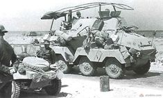 The German four-wheel-drive armored vehicles from the Second World War. Army Vehicles, Armored Vehicles, Armored Car, Mg 34, Afrika Corps, North African Campaign, Armoured Personnel Carrier, Military Pictures, Ww2 Tanks