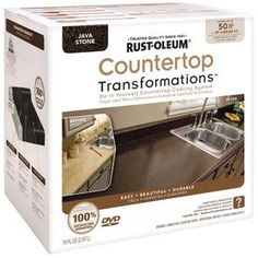 EASY DIY solution for redoing the kitchen countertops! --Rustoleum has made it easy to transform the look of your kitchen countertops using their Countertop Transformations Kit. It's easy to apply and cheap to boot! Countertop Kit, Resurface Countertops, Painting Countertops, Countertop Makeover, Giani Granite, Faux Granite, Green Countertops, White Counters, Cheap Countertops