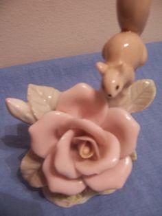 Vintage Kensington Rose and Squirrel Figurine by mimishomefashions, $8.95