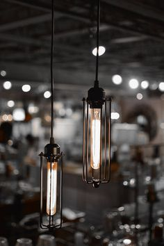 $75 Free Shipping Industrial Cage Light Pendant Pair
